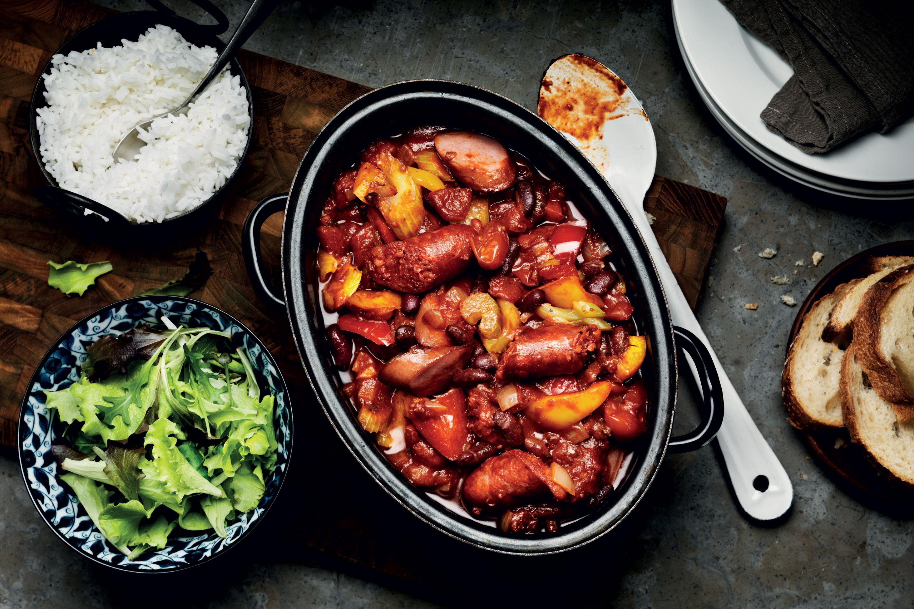 köttgryta med chorizo recept
