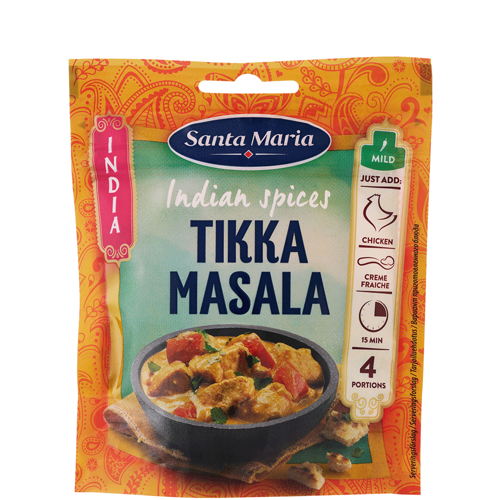 Påse med Indian Spices Tikka Masala