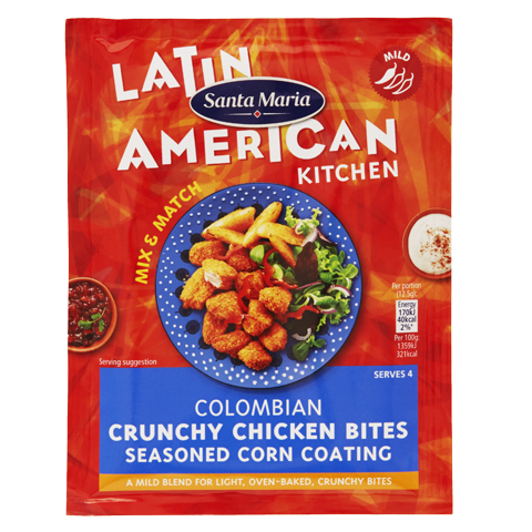 Colombian Crunchy Chicken Bites Seasoned Corn Coating