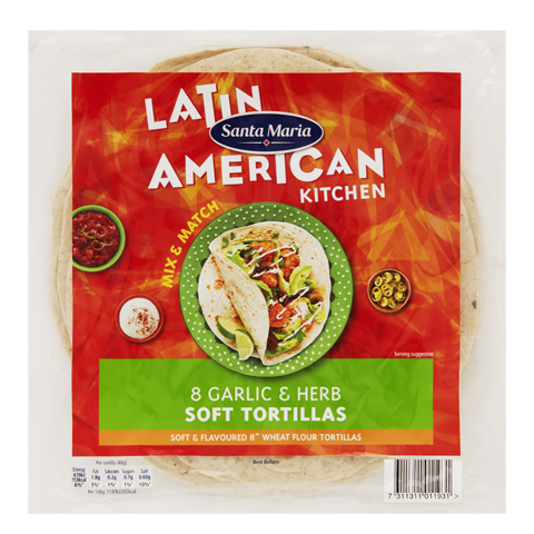 Garlic & Herb Soft Tortillas