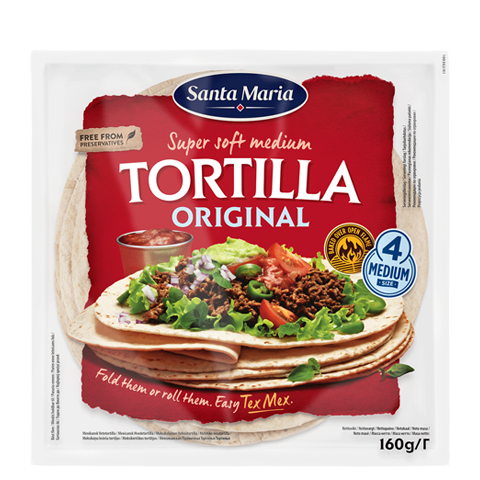Tortilla Original Medium 4-pack