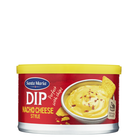 Burk med Nacho Cheese dip - cheddarost