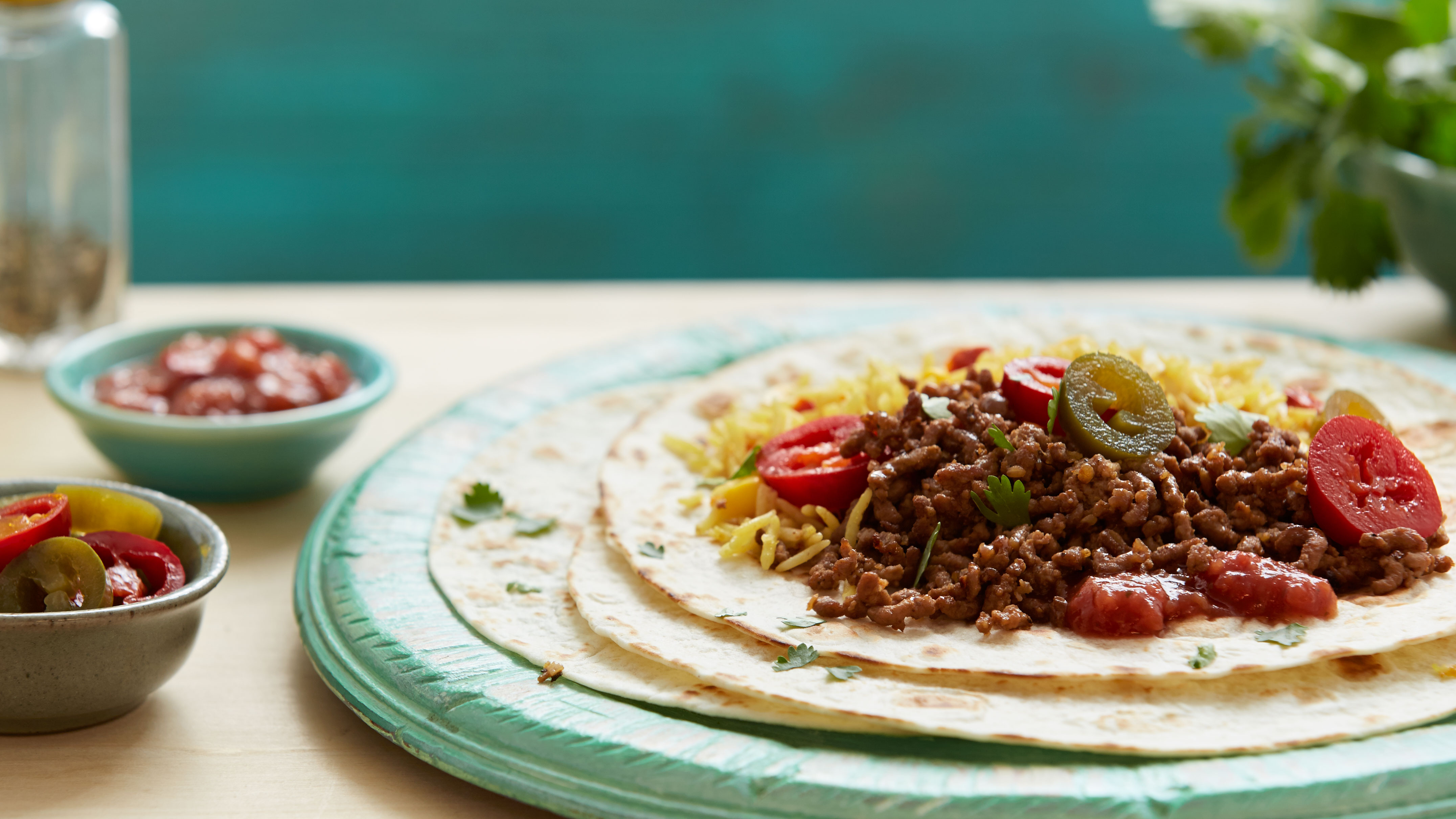 Brazilian Minced Beef Burritos