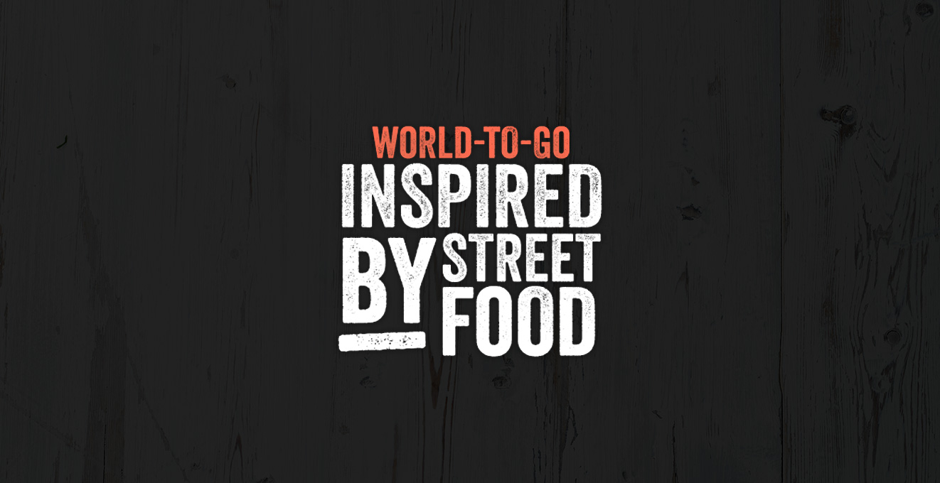 world to go inspired by streetfood logo