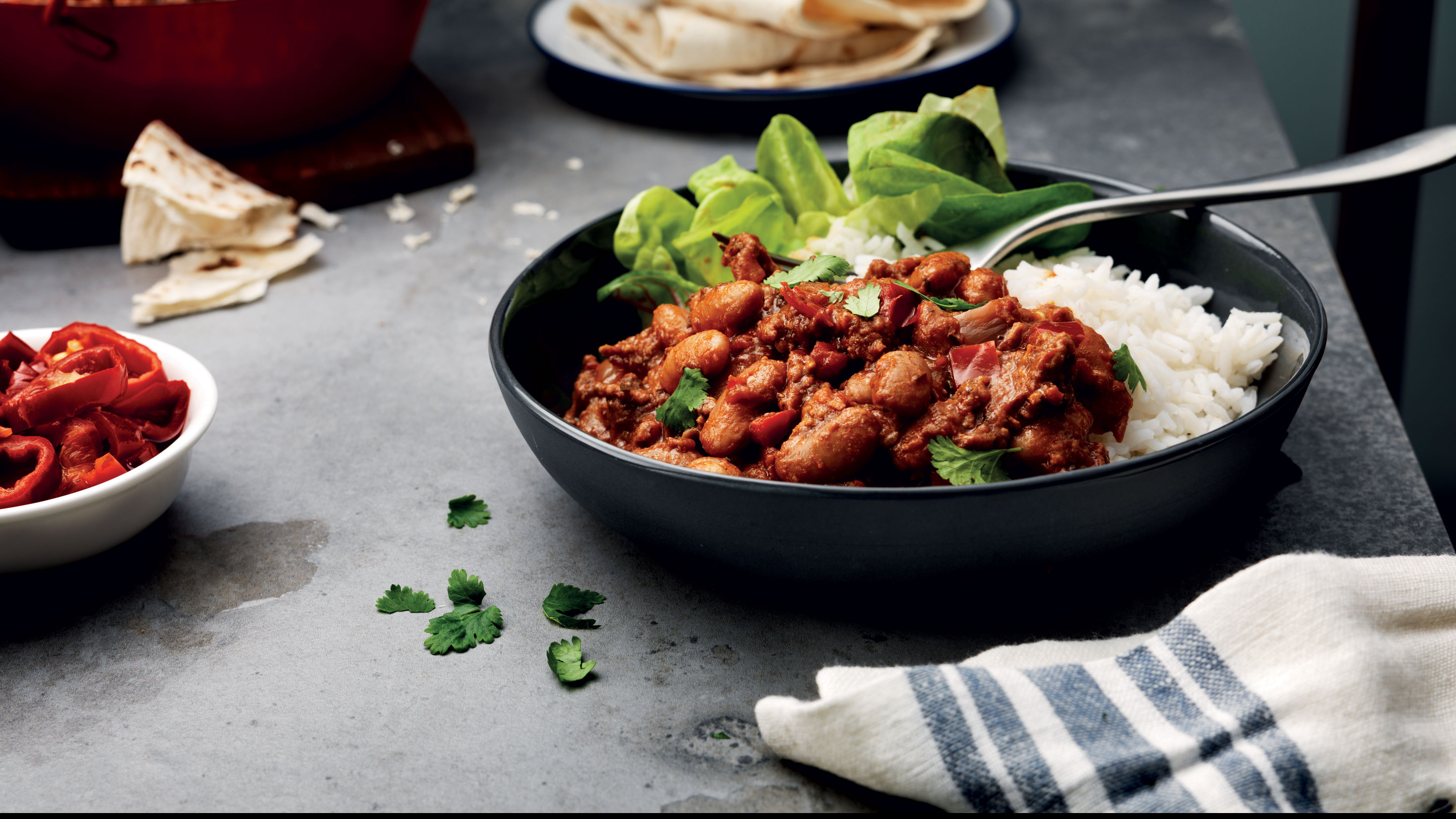 Chilli Con Carne with Smoked Paprika & Chipotle Seasoning and Sauce