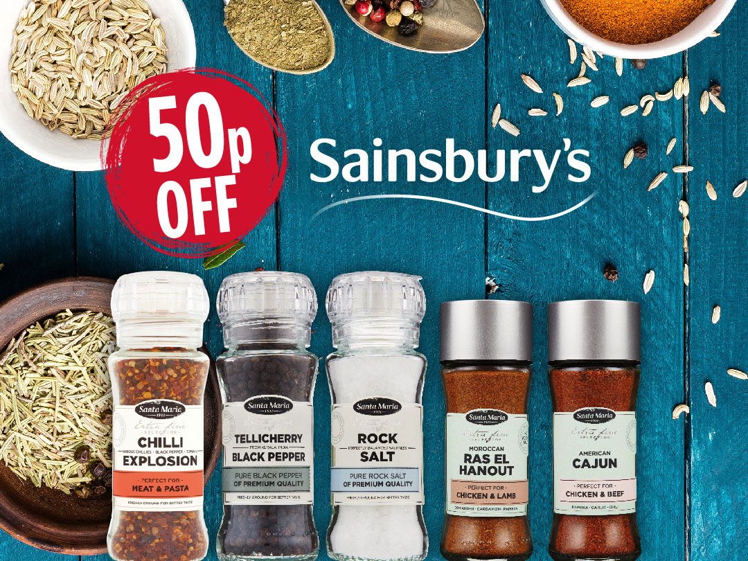 50p off spices in Sainsbury's