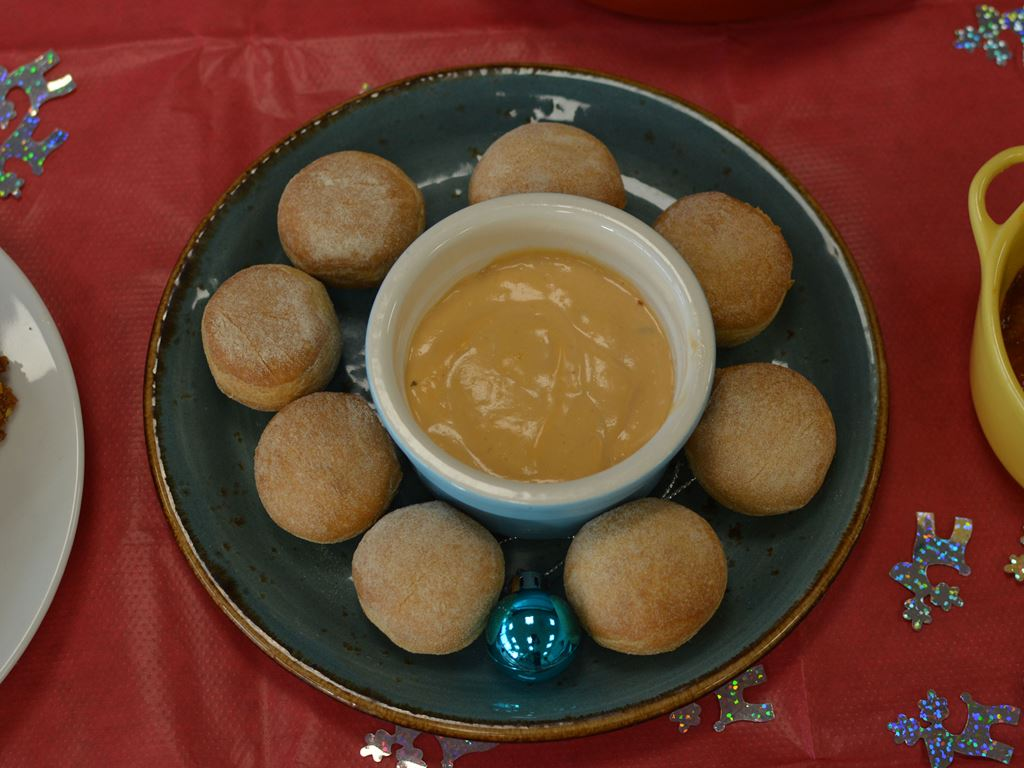 Dough Balls with dips