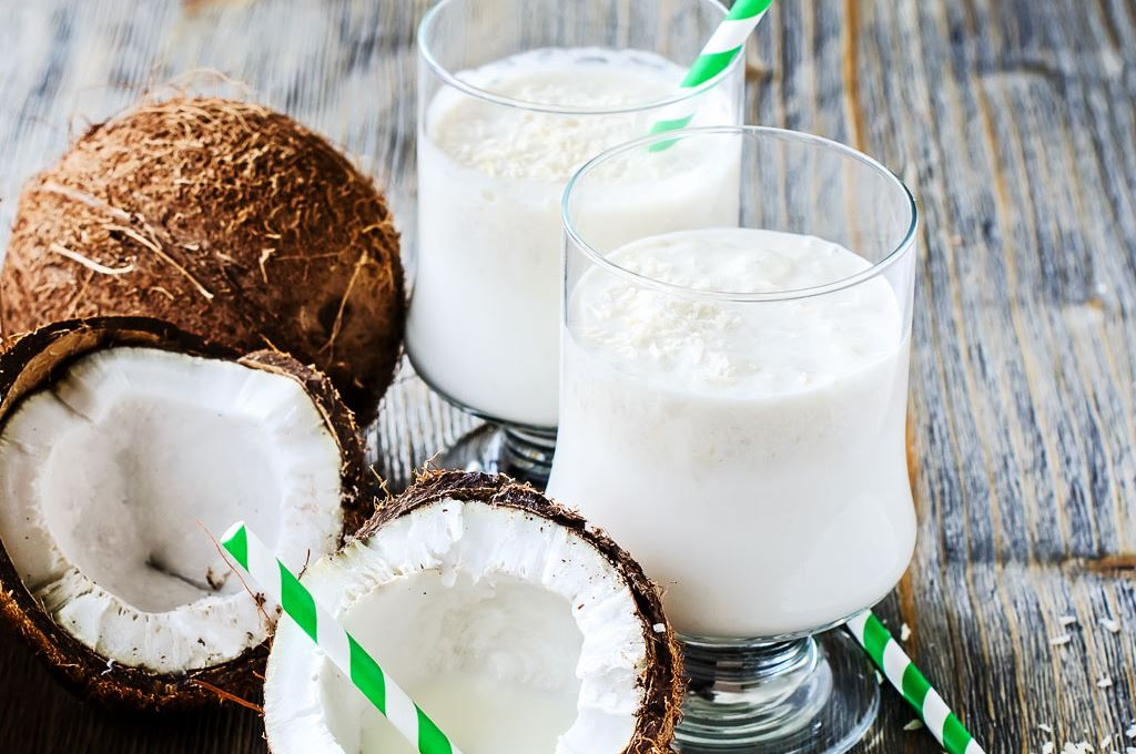 coconut and glass