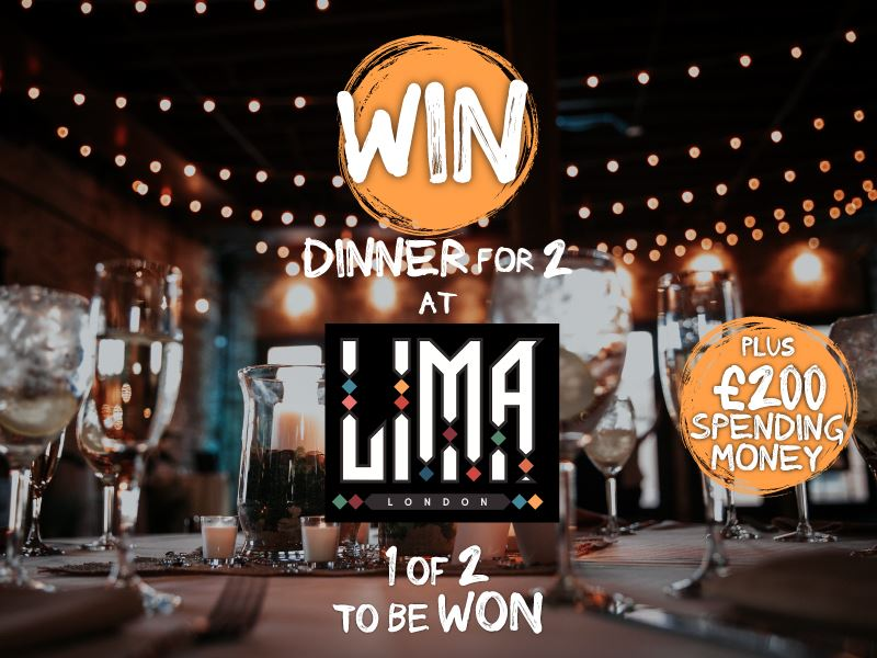 Win dinner for 2 at Lima London