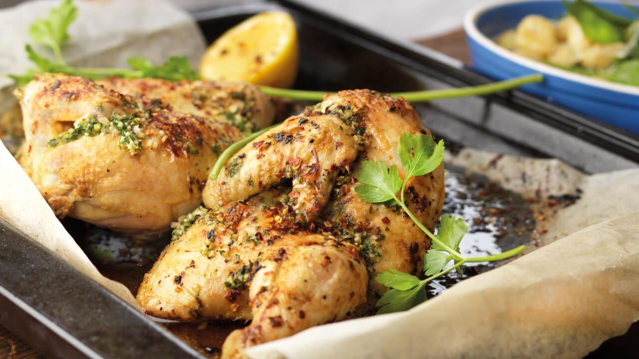 krydda stekt kyckling