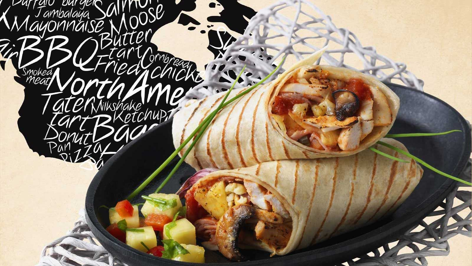 wraps with flavours from around the world