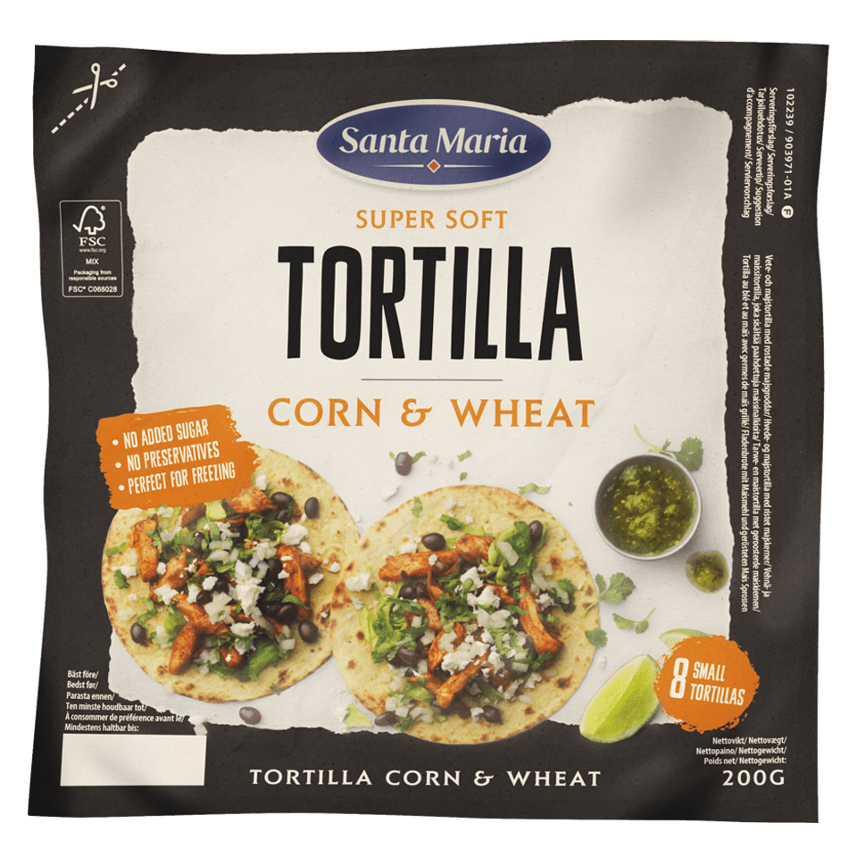 Tortilla Corn & Wheat Small