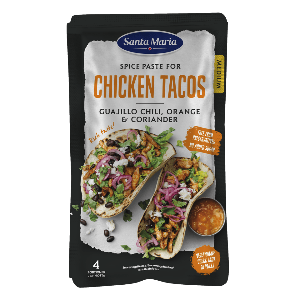 Spice Paste Chicken Tacos