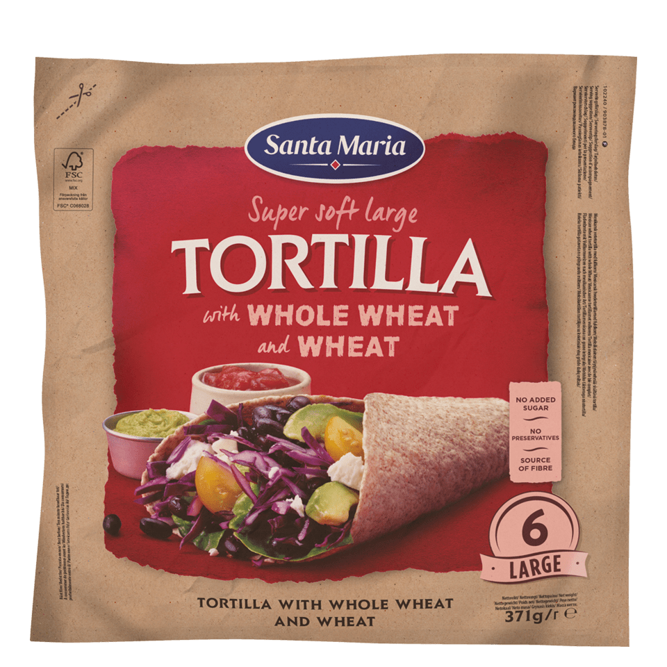Packet with Tortilla with Whole Wheat & Wheat