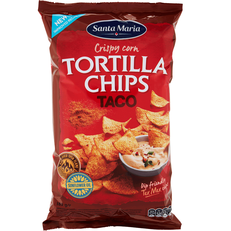 Tortilla Chips Taco Flavoured