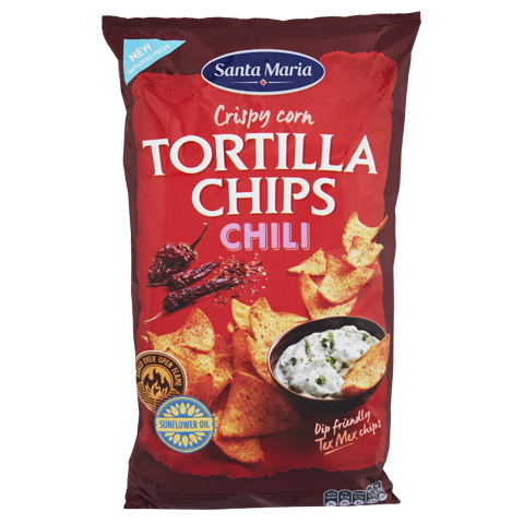 Tortilla Chips Chili, stór poki
