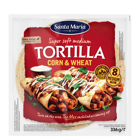 Tortilla Corn & Wheat Medium