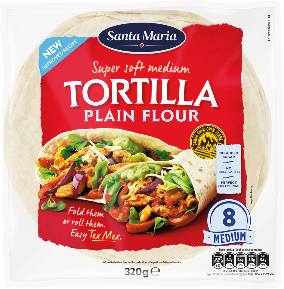 Plain Flour Soft Tortillas