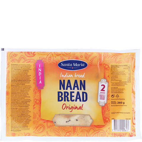 Package with Naan Bread Original