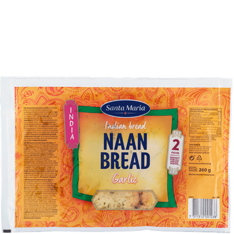 Package with Naan Bread Garlic