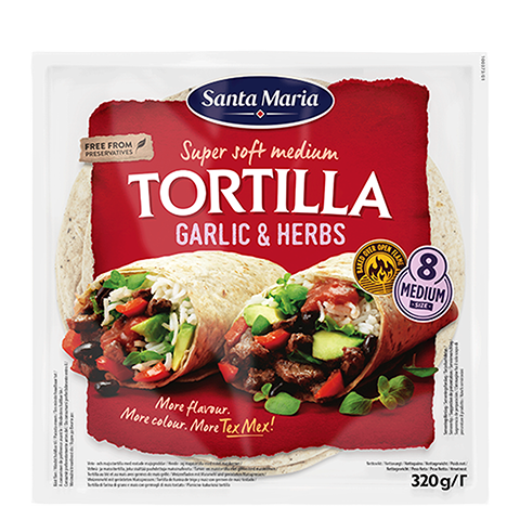Tortilla Garlic & Herbs Medium