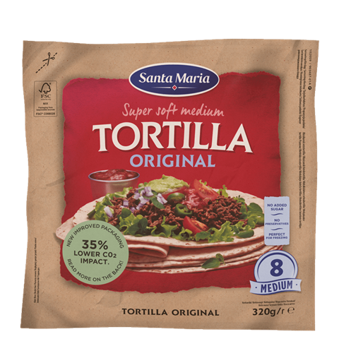 Packet with eight tortillas