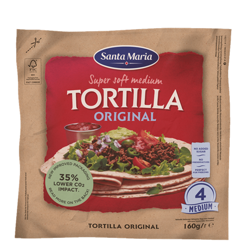 Packet of tortillas