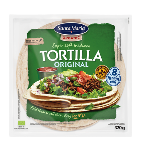 Tortilla Organic Original Medium