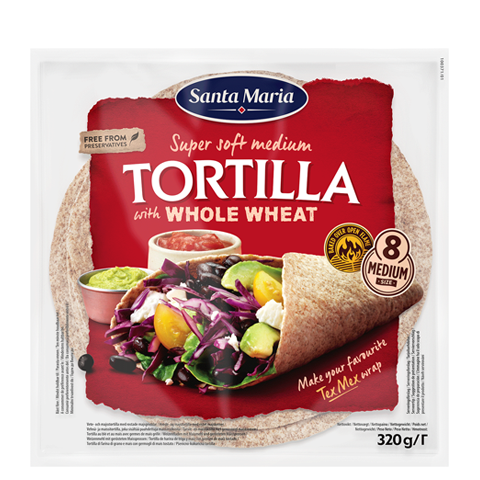 Tortilla with Whole Wheat Medium