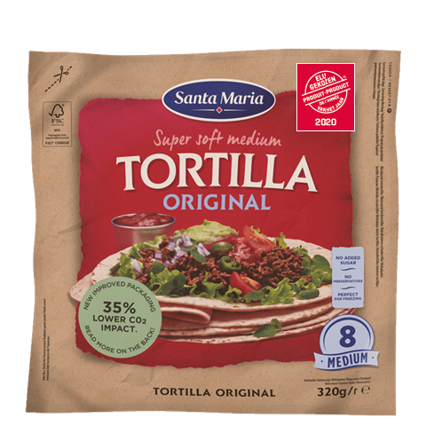 Tortilla Original Medium (8-pack)