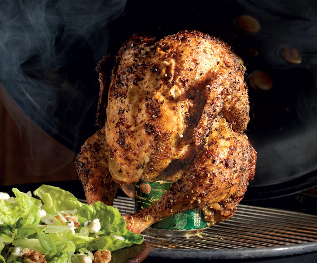 Beer Can Chicken med Bluecheesesallad