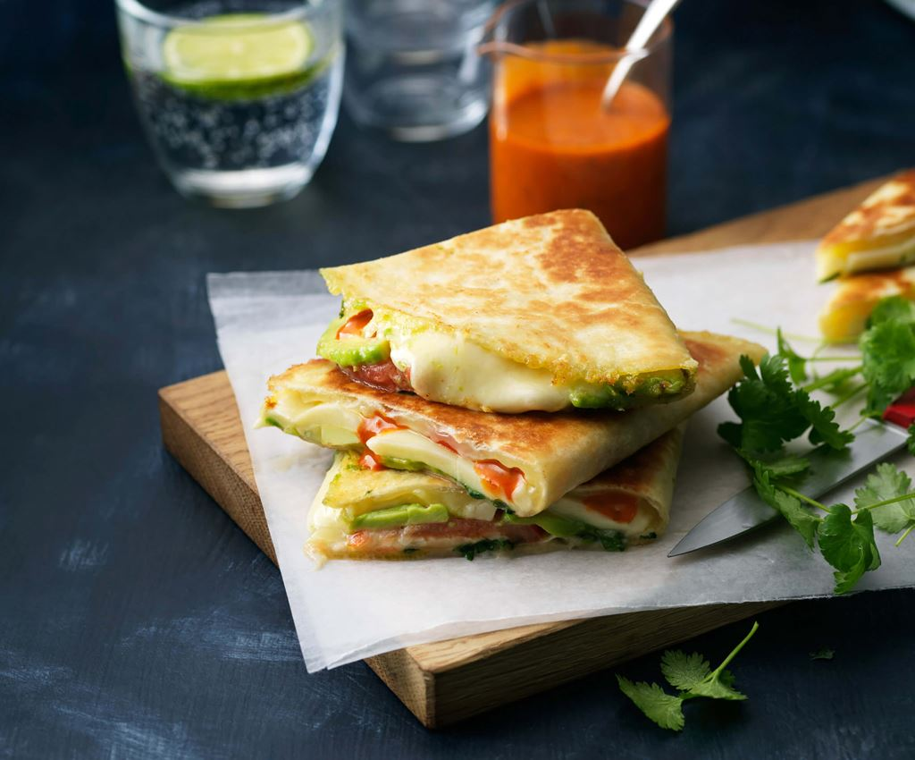 Avocado & Mozzarella Quesadillas
