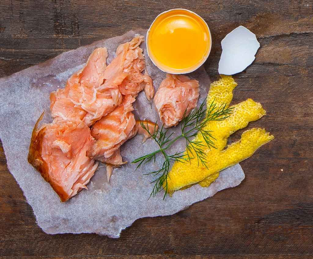 Pizza med lax, dill & citron