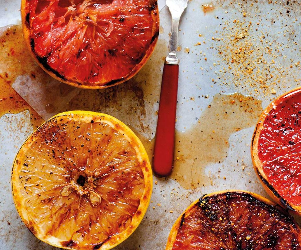 grilled grapefruit