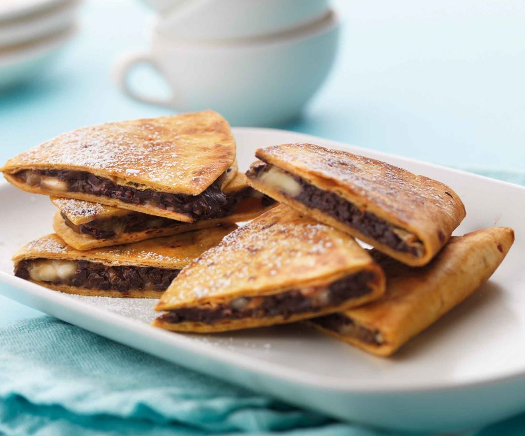 Chocolate and Banana Quesadillas