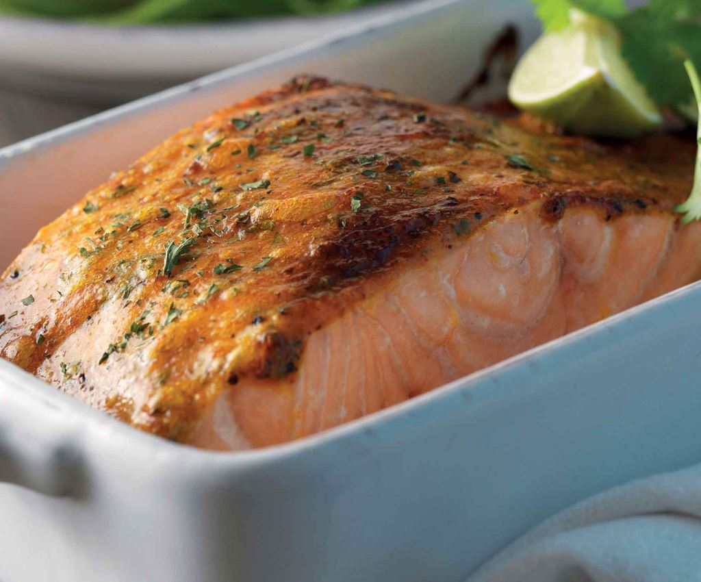 Salmon with Fajita Cream