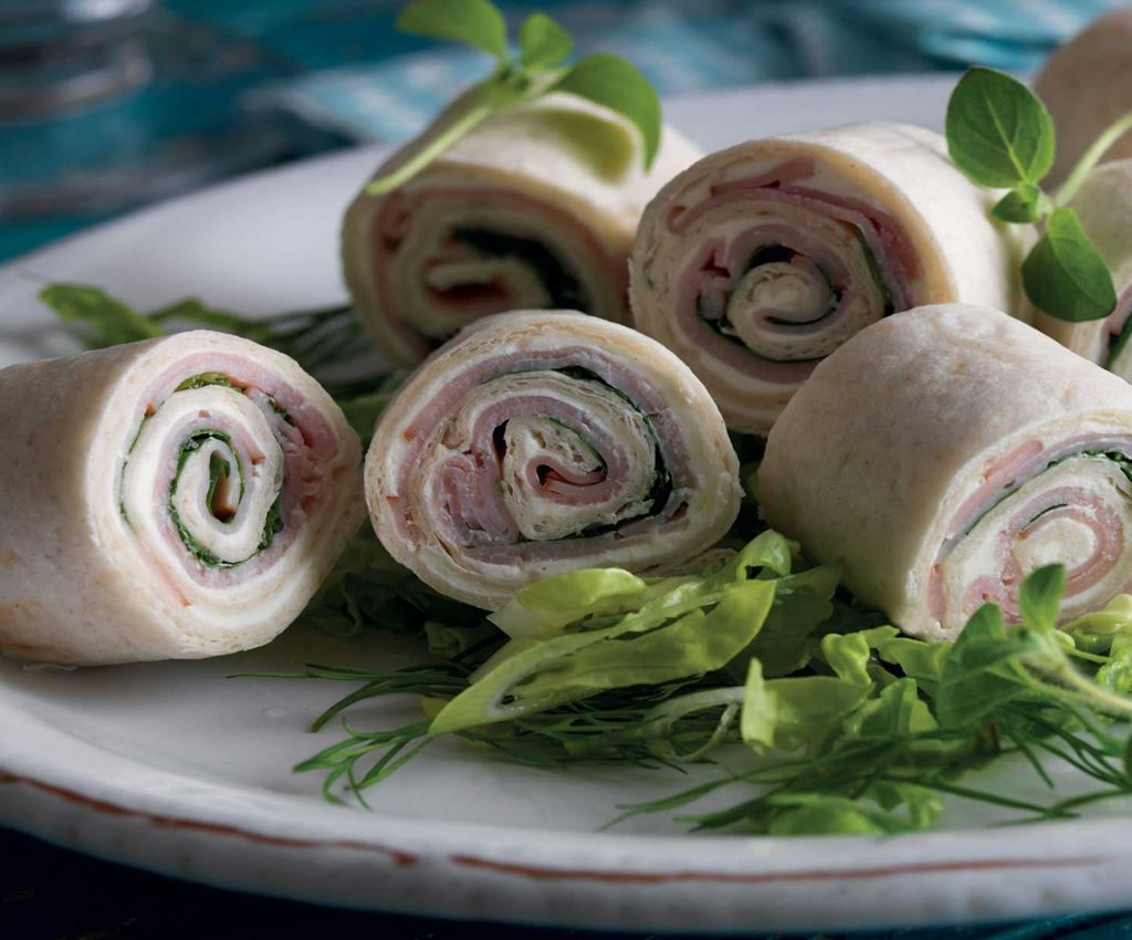 Ham and Cheese Wraps