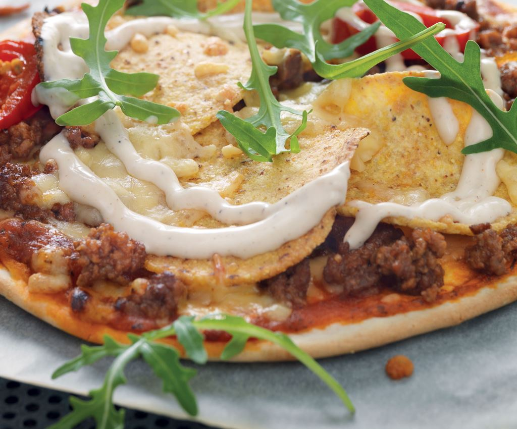 Crispy Taco Pizza