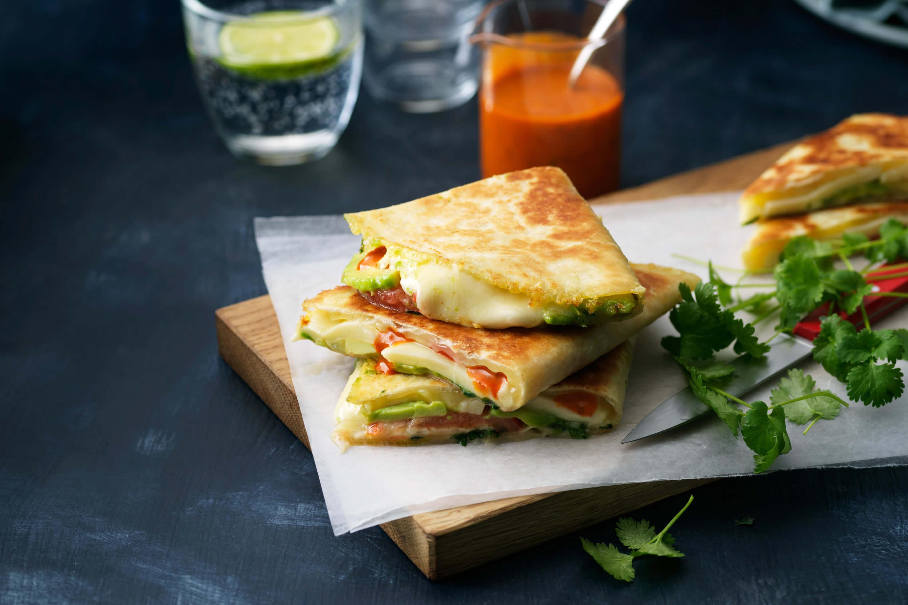 ica tortilla mozzarella tomat avokado