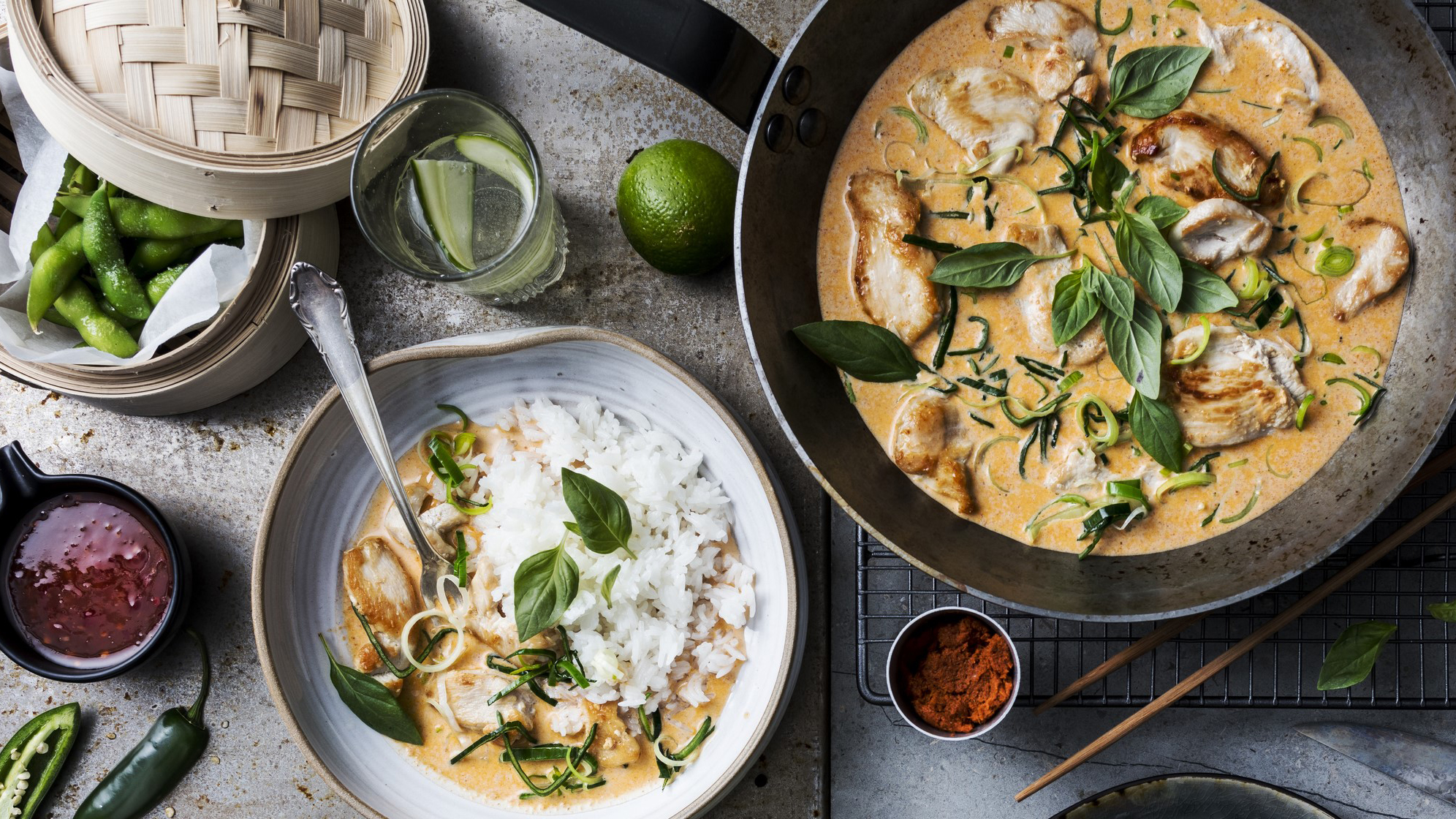 Kylling red curry med kokosmelk
