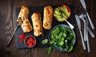 Chimichangas med guacamole