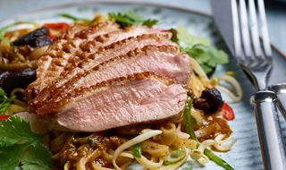 Crispy Duck Breast with red chili & ginger