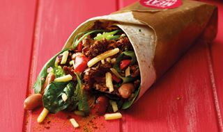 Hot & Smoky pulled pork wrap