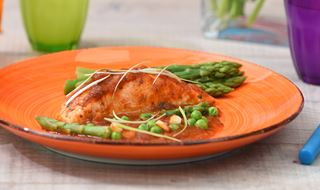 Peruvian Salmon with Spring Vegetables