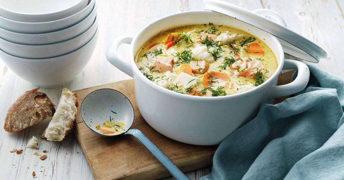 Koorene kalasupp santa maria retsept for Creamy fish soup recipe