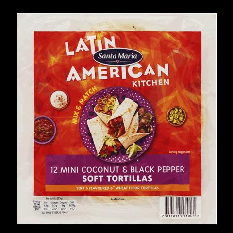 Mini Coconut Black Pepper Soft Tortillas